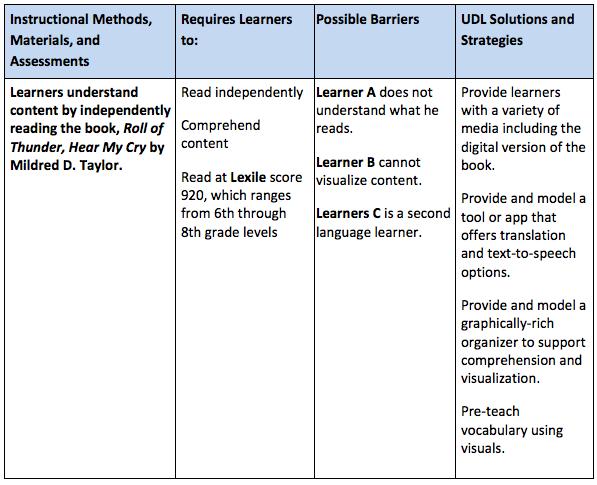 UDL lesson review process